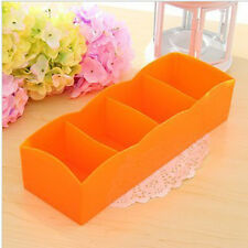 Desktop Plastic Organizer Storage Box for Tie Bra Socks Drawer Cosmetic Divider