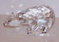 Stunning Signed Swarovski Crystal Polar Bear Sculpture