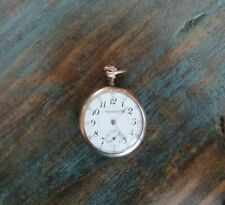 Pocket Watch Early 1900's #17441385 Antique Waltham Montgomery Bros. Open Face