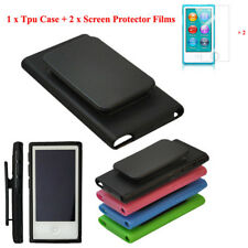 TPU Belt Clip Gel Skin Case for Apple iPod Nano 7th Generation 7G Cover Shell