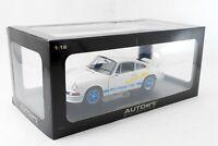 AUTOart 1/18 PORSCHE 911 CARRERA RS 2.7 1973 WHITE / BLUE STRIPES Diecast