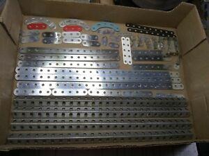 MECCANO ERECTOR Builders LOT 54 Parts Girders/Strips Arcs Angles DOUBLE ANGLE