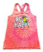 Justice Girls Shimmer Racerback Tank Top Tee Size 10 NWT Be Happy