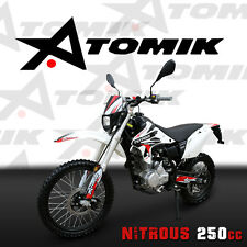 NEW ATOMIK NITROUS 250CC PIT DIRT BIKE MOTOR TRAIL BIKE MX TERRAIN MOTORCROSS AG