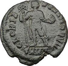 ARCADIUS w labarum 392AD  Ancient  Roman Coin Chi-Rho Christ monogram  i32299