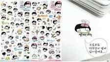 #66 Cute mushroom girl cartoon pvc stickers notebook diary decoration 6 sheets