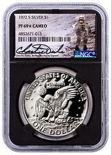 1972-S Silver Eisenhower Dollar NGC PF69* Cameo Charlie Duke Signed SKU54675