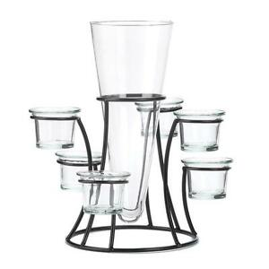 1 CIRCULAR CANDLE STANDS WITH VASE WEDDING EVENT RECEPTION TABLE CENTERPIECES