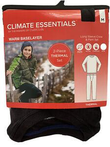 Boys Cuddl Duds Climate Essential 2-Piece Thermal Set Baselayer Black M (7/8)