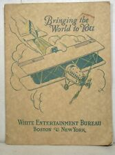1927 White Entertainment Bureau roster: Vaudeville, black vocal, Chic Kennedy