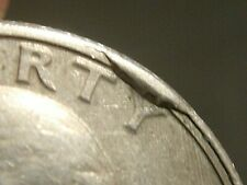 1987 Washington Quarter error RARE CUD & Partial Collar US error coin
