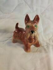 Vintage Glazed Porcelain Dog / Scottie Terrier Made In Japan, 4 Inch