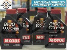 4 L Motul 8100 Eco-Clean 0W30 Olio Motore 100% Sintetico C2 FIAT 9.55535-GS1/DS1