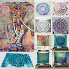 Indian Tapestry Large Elephant Wall Hanging Mandala Hippie Bedspread Beach Towel