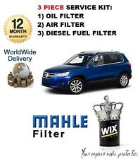 FOR VOLKSWAGEN VW TIGUAN 2.0 TDi  01/2007--> SERVICE KIT OIL AIR FUEL FILTER SET