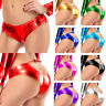 Women Sexy Lingerie Brief Panties Metallic Wet Look Thong Shiny Shorts Underwear