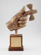 """Fickle Finger of Fate Bronze Employee Award from """"Rowan & Martin's Laugh-In"""""""
