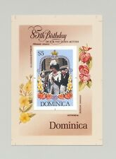 Dominica #909 Queen Mother 85th Birthday 1v S/S Imperf Proof