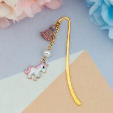 Unicorn Gold-plated Tassel Metal Cartoon Art Bookmark Reading Decor Perfect Gift