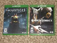 Great Shape! Injustice 2 + Mortal Kombat X 10 Xbox One Fighting Game Bundle Lot