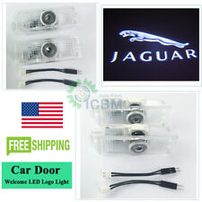 2xNo Drill LED Door Goast Courtesy Laser Logo Lights For Jaguar F-Type 2014-2019