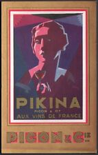 Art Déco. Publicité vin Pikina. Picon & Cie. Dos non postal. 1932