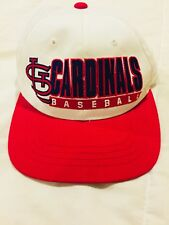 Vtg St Louis Cardinals Hat Snapback Starter Adjustable Cap Red Youth
