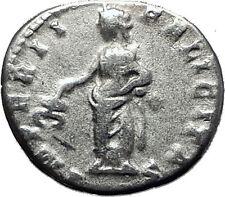 CARACALLA 198AD Authentic Ancient Silver Roman Coin Felicitas Good luck i60382