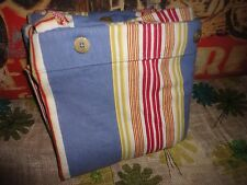 POTTERY BARN TEEN BLUE & RED STRIPE TWIN DUVET 65 X 79