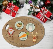 Babbo Natale regalo Piastra//Placca Vigilia di Natale Trattare la placca in MDF Regalo di Natale