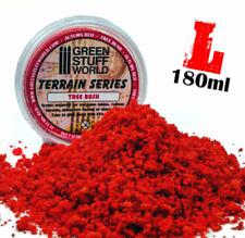 Laub Flocken - Herbstlich Rot - 180ml (L) feinen Schaumstoff-Flocken Modellbau