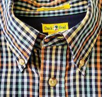 Men's Duck Head Dress Shirt Button Down Plaid Size L Long sleeve 100% cotton