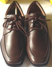 Shoes boys size 5M EUR 37.5 new man made materials laces brown Smartfit