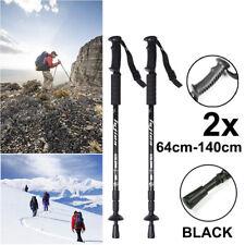 2x NEW Brand Trekking Hiking Poles Walking Stick Anti Shock Camping High Quality