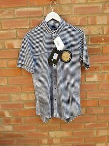 Balmain Paris Gingham Shirt Lion embroidery Mens Size 40 L [New tags] £620