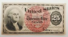 1863 Twenty Five Cents 25¢ George Washington Fractional US Currency Bank Note