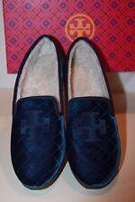 b0532bfcdbb8 Tory Burch Billy 2 Blue Velvet Grosgrain Loafers women s size 10.5 m