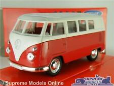 VOLKSWAGEN T1 MODEL VAN BUS RED 1963 1:36-1:38 SCALE WELLY CLASSIC SPLIT SCREEN