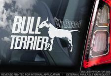 Bull Terrier - Car Window Sticker - Dog Sign -V08