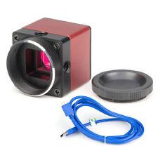 HD Industrial Camera Digital Electronic Eyepiece 5MP CMOS Microscope USB3.0
