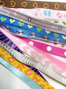 20 Meter Satinband Ribband Dekoband Bänder Paket Kindermotiv 10mm breit