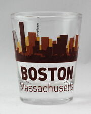 BOSTON MASSACHUSETTS SUNSET SKYLINE SHOT GLASS SHOTGLASS