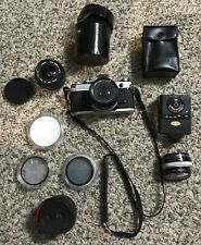 NICE! Canon AE-1 Program 35mm SLR Camera with Canon 50mm f/1.8 Lens & 28mm Lens
