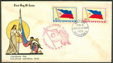 1959 HONORING THE PHILIPPINE NATIONAL FLAG First Day Cover