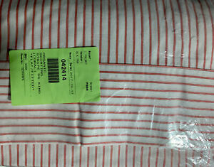 Pottery Barn Organic Shirting Stripe King flat,fitted sheet & Stand Cases Coral