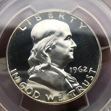 PCGS PR66CAM 1962 PROOF Franklin Half Dollar Deep Mirrors And Cameo.