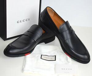 GUCCI Business Luxus Mens Shoes Leather black Size EU 44,5; UK 10,5; US 11