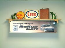 Volkswagen Motorsport Golf Rallye G60 BANNER Workshop Garage VW Motor Sport