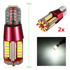 2 LAMPADE LAMPADINE T10 501 W5W 57 LED 3014 SMD CANBUS NO Error Posizione 8W BIA