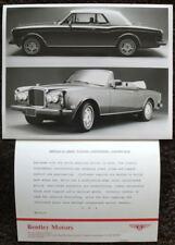 BENTLEY CONTINENTAL CONVERTIBLE PRESS PHOTOGRAPH BLACK & WHITE 1993